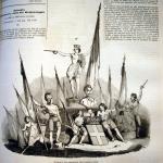 Fig. 2 – Chiappori, «L'unione d'Italia rappresentata dalla compagnia Keller», in «Il Mondo Illustrato», 3 luglio 1847, incisione su legno.