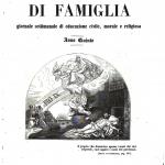 Fig. 5 – Sovracoperta, «Letture di famiglia», V, dicembre 1846, incisione su legno.