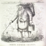 Fig. 7 – «Dirthy Father Thames», in «Punch or The London Charivari», 30 settembre 1848, incisione su legno.