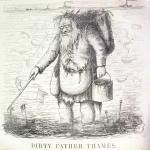Fig. 7 – «Dirthy Father Thames», in «Punch or The London Charivari», 30 settembre 1848, incisione su legno.