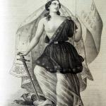 Fig. 10 – Pietro E. De Filippi, «Libertà, Eguaglianza, Fratellanza», in «L'Inferno», 12 marzo 1849.