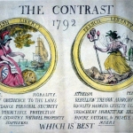 Fig. 11b – T. Rowlandson, The contrast. Which is best, 1792, acquaforte colorata a mano (British Museum, London)