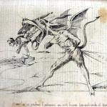 Fig. 20 – Antonio Masutti, «Come! Mi si perdoni l'indecenza ma certi bocconi fan male anche al Diavolo!!», in «Il Don Pirlone», 16 giugno 1849.