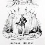 Fig. 25 – Antonio Masutti, «Riunione Italiana», 1848, litografia (Civica Raccolta delle Stampe Achille Bertarelli, Milano).
