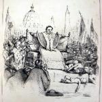 Fig. 28 – S.n., «Non si può più seder su due scranni!», in «Lo Spirito Folletto», 31 luglio 1848, litografia.