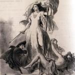 Fig. 32b – Luigi Taccani, «Il volo d'Italia», in «Lo Spirito Folletto», 4 luglio 1861, litografia.