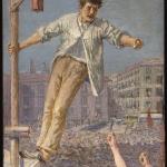 Fig. 02. Emilio Longoni, «L'oratore dello sciopero», 1890-1892, olio su tela (Banca di Credito Cooperativo, Barlassina)