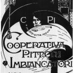 Fig. 09. Carlo Carrà, «Cooperativa Pittori Imbiancatori», 1909, tessera (Cooperativa di Costruzioni Lavoranti Muratori, Milano)