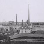 Fig. 15. «Veduta del nuovo stabilimento Pirelli alla Bicocca, a Milano», 1910-1920 circa, fotografia (Archivio storico Pirelli, Milano)
