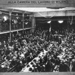 Fig. 24. Studio Fotografico Italo Pacchioni, «Congresso delle organizzazioni di resistenza tenutosi nei giorni 29-30 settembre 1906 alla Camera del Lavoro di Milano», 1906, fotografi