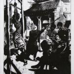 Fig. 15 «Supplices chinois. À Kharbin, des condamnés sont pendus par les pouces et battus à coups de barres de fer», in «Le Petit Journal Illustré», 11 octobre 1908, p. viii.