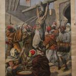 Fig. 16 «Supplice marocain. Un caïd crucifié et coupé en morceaux à Marrakech», in «Le Petit Journal Illustré», 16 août 1908, p. viii.
