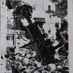 Fig. 02 «L'accident de la gare de Montparnasse», in «Le Petit Journal Illustré», 3 novembre 1895, p. v.