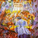 Fig. 04 Umberto Boccioni, «La strada che entra nella casa», 1911, olio su tela (Sprengel Museum, Hannover).
