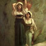 Fig. 12 Ernest Hébert, «Le filles d'Alvito», 1855, olio su tela (Musée d'Orsay, Paris).
