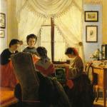 Fig. 02. Odoardo Borrani, «Il 26 aprile 1859», 1861, olio su tela (collezione privata)