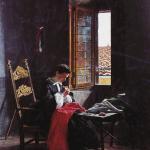 Fig. 03. Odoardo Borrani, «Cucitrici di camicie rosse», 1863, olio su tela (Palazzo Bricherasio, Torino)