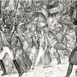 Fig. 09. Francesco Wenzel, «Napoli, il 7 settembre 1860», s.d., litografia, particolare (Società napoletana di storia patria, Napoli)