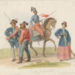 Fig. 11. «Truppa di Garibaldi», 1860, acquarello (Anne S. K. Brown Military Collection, Brown University Library, Providence).