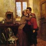 Fig. 01. Gerolamo Induno, «Un grande sacrificio», 1860, olio su tela (Accademia delle Belle Arti di Brera, Milano)