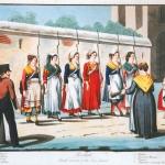 Fig. 07. «Reclute femminili della guardia civica», 1847 ca., acquaforte (Gabinetto comunale delle stampe, Museo di Roma)