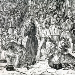 Fig. 10. Francesco Wenzel, «Napoli, il 7 settembre 1860», s.d., litografia, particolare (Società napoletana di storia patria, Napoli)