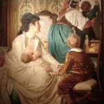 Fig. 12. Giuseppe Sciuti, «Le gioie della buona mamma», 1877, olio su tela (Palermo, collezione privata)