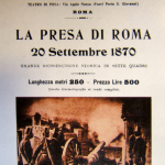 Fig. 1 – «Bollettino della Alberini & Santoni», 1, 1905, brochure pubblicitaria del film «La presa di Roma»