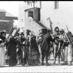 Fig. 3a – La scena della partenza dei volontari nel film «Il piccolo garibaldino» (Cines, 1909)