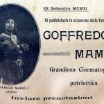 Fig. 5 – Pubblicità del film «Goffredo Mameli» (Cines, 1911)