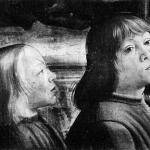 Fig. 05 – Domenico Ghirlandaio, «Conferma della regola dell'Ordine di San Francesco», 1482-1485, affresco, Cappella Sassetti, Santa Trinita, Firenze (particolare: Piero e Giovanni di Lorenzo de' Medici)