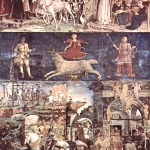Fig. 06 – Francesco Cossa, «Ciclo dei Mesi. Marzo», 1468-1470 circa, affresco, Sala dei mesi, Palazzo Schifanoia, Ferrara