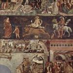 Fig. 08 – Francesco Cossa, «Ciclo dei Mesi. Aprile», 1468-1470 circa, affresco, Sala dei mesi, Palazzo Schifanoia, Ferrara